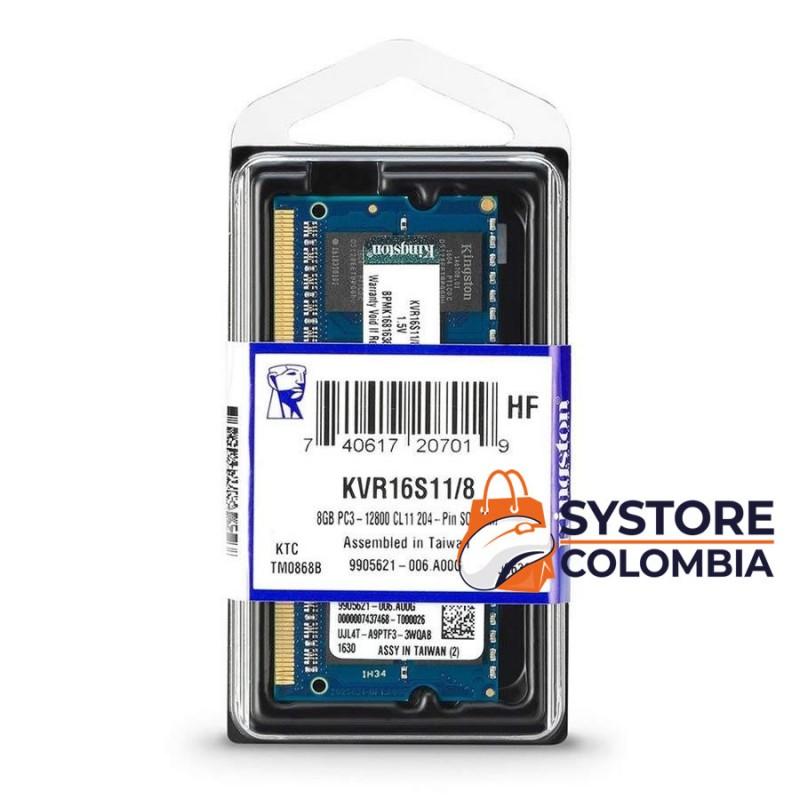 Memoria ram ddr3 8gb portatil kingston 1600 mhz bogota colombia mayorista